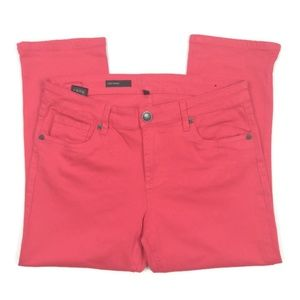 KUT from the Kloth Red Crop Skinny. Size 10.